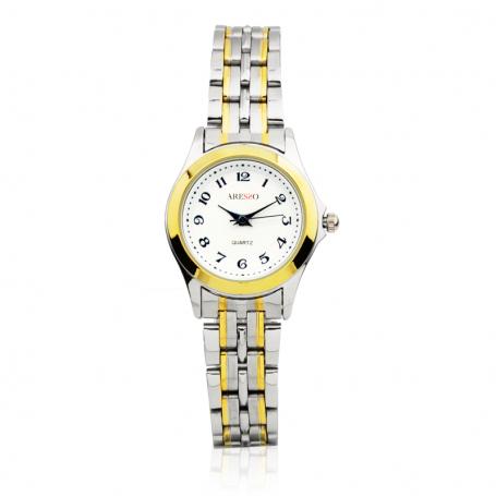 Reloj Mujer Bicolor Pequeño Textura Aresso