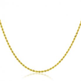 Cordón de Oro 18k 2mm 45cm