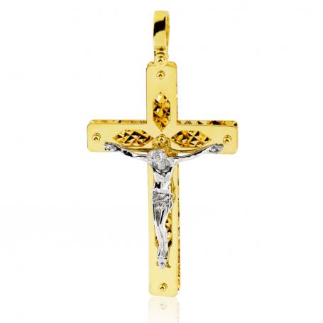 Colgante Cruz Cristo Oro 18K