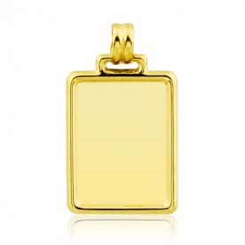 Chapa Oro Rectangular Lisa Gold