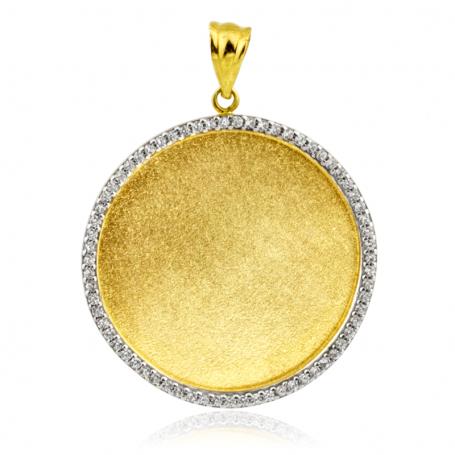 Chapa Redonda Circonitas Oro