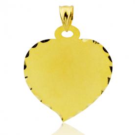 Colgante Chapa Corazón Oro 18k