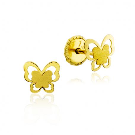 Pendientes Mariposa Calada Oro 18K