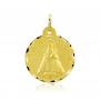 Medalla Virgen de Covadonga Labrada Oro 18k
