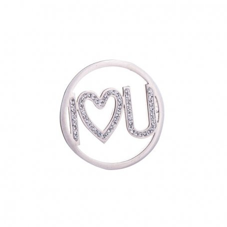 Moneda I LOVE YOU en Acero