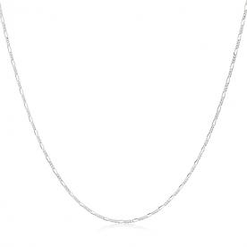 "Cadena Eslabón ""3x1"" en Plata 45cm"