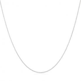 Cadena Eslabón Rolo en Plata 45cm