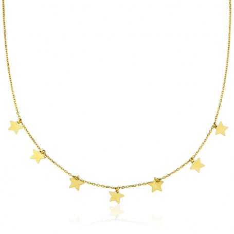 Gargantilla Estrellas Oro 18K