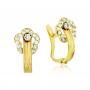 Pendientes Mujer Oro Flor Circonitas Persistent