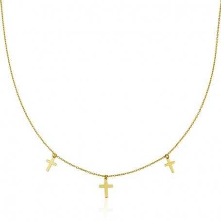 Colgante Cruces Oro 18k