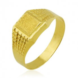 Sello Rectangular con Motivos Oro 18K