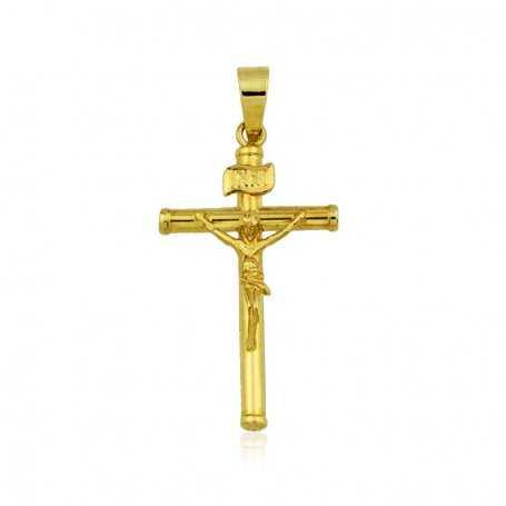 Cruz Cristo Pequeño en oro de 18K