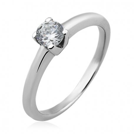 Solitario Brillante 0,40ct en Oro Blanco 18K