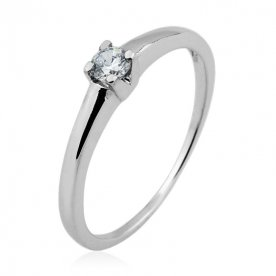 Solitario Brillante 0,15ct Oro Blanco 18K