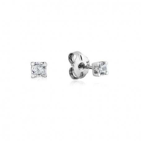 Pendientes Garra Diamante 0.50ct Oro Blanco 18K