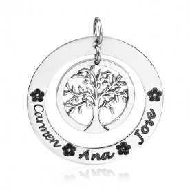 Colgante Árbol de la Vida con Nombres Plata