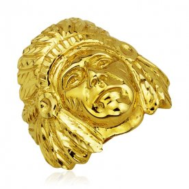Sello Cabeza Indio Oro 18K
