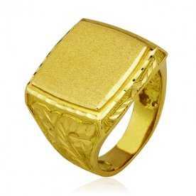 Sello Cuadrado Labrado Oro 18K