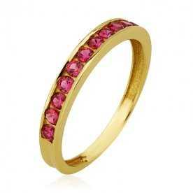 Sortija Oro 18K Garras con piedra color|ARESSO