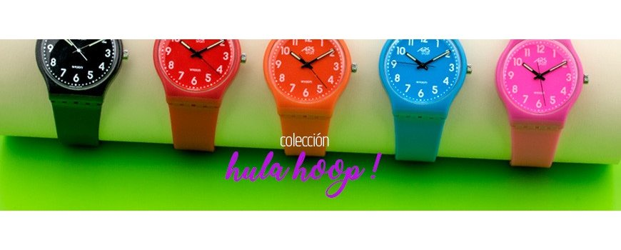 Colección Hula Hoop ! de relojes infantiles llenos de color